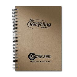 "7"" x 10"" Spiral Earth Notes© Personal Recycling Guide & Notebook"