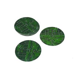 Coaster Made From Recycled Circuit Boards