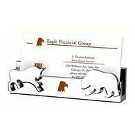 Business Card Holder with Bull and Bear Shaped Icons