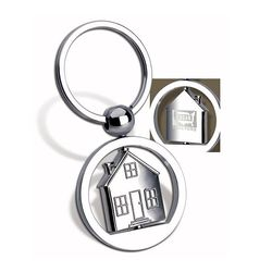 Spinning House Key Tag