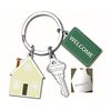 Key Tag with Real Estate Themed Charms