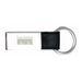 Nickel & Leather Key Tag