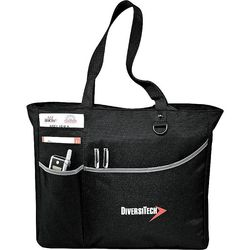 "13"" x 15"" Metropolis Zippered Polycanvas Meeting Tote"