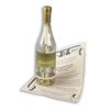 Large Message in a  Bottle Mailer Features a Custom Label and a Rolled and Tied Parchment Message