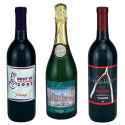 Champagne in Your Own Custom-Labeled Bottle
