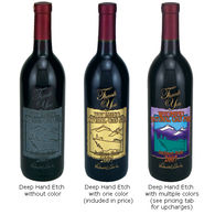 Merlot in Your Own Custom-Etched Bottle