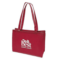 "16"" x 12"" Non-Woven Shoulder Tote with 28"" Handles - Full Color Printing"