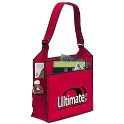 "16"" x 14"" Non-Woven Ultimate Shoulder Tote - Full Color Printing"