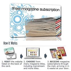 Gift Cards - Magazine Subscription
