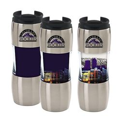 16 oz. Heat Activated Stainless Steel Tumbler is Black Until you Add Hot Liquid to Reveal Your Full-Color Design