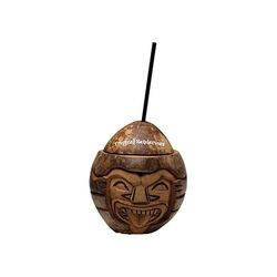 Tiki Coconut with Beverage Cup & Straw