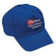 5-Panel, Medium Profile Economy Sports Cap with Self-Fabric Velcro® Closure - SCREENPRINTED