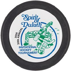 Souvenir Hockey Puck with Domed Decal