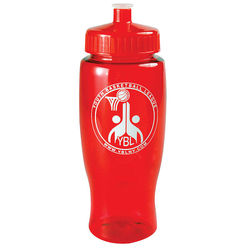 27 oz. Transparent BPA-Free Sports Bottle with Push-Pull Lid Made from Food-Safe 100% Post-Consumer Recycled PETE