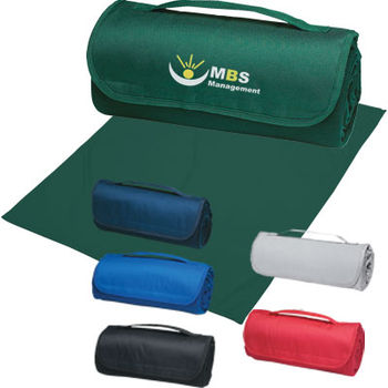 """48"""" x 53"""" SWEATSHIRT Material Roll-Up Blanket with Handle"""