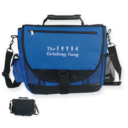 "12"" x 15"" Polyester Messenger Bag with Multiple Storage Compartments"