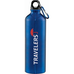 26 oz. BPA Free Aluminum Water Bottle Includes Matching Carabiner (Basic Colors)