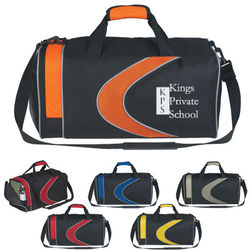 "19"" Polyester Two-Tone Sports Duffel Bag"