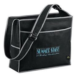 "14"" x 16"" Non-Woven Deluxe Box Convention Tote with Board Bottom is 100% Recyclable"