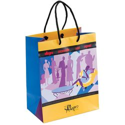 "Full-Color, Fully-Custom 13"" x 10"" Paper Shopping Bag"