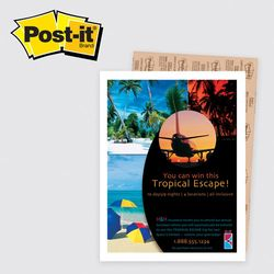 "Post-it&reg Poster Paper - 8.5"" x 11"" Adhesive with Full Color Printing"