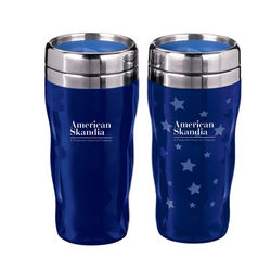 16 oz. Acrylic Heat Activated Tumbler with Stainless Steel Liner Reveals a STAR THEME When Hot Water is Poured Inside