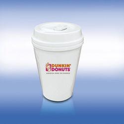 """10 oz Reusable """"To Go"""" Cup - Hard Plastic Mug with Plastic Lid"""
