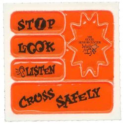 Set of 5 Helmet Safety Reflectors; Print a Different Message on Each