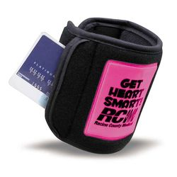 Reflective Safety Wrist Band Wallet