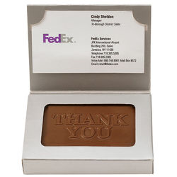1 oz  Chocolate in a Business Card Box - Just Insert Your own Business Card