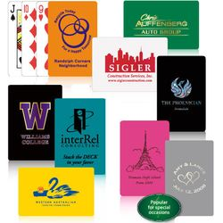 Poker Size Playing Cards with Custom Solid Color Backs