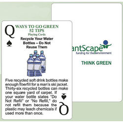 Poker Size Playing Cards with 52 Helpful Recycling Tips
