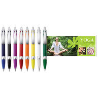 Solid Color Banner Pen Features a 2-Sided Pull-Out Message Hidden Inside the Barrel! (Normal Production)