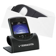 Deluxe Simulated Leather Mobile Device Holder (Mails Flat!)