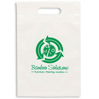 Eco Plastic Bag with Die Cut Handle - 9.5