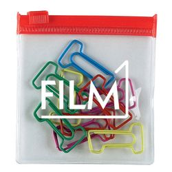 Unique #1 Shape Paper Clips in Storage Pouch