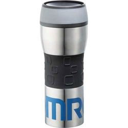 14 oz. Stainless Steel-Lined Travel Tumbler with Silicone Sleeve and a Revolutionary Drink Top That Opens and Closes with the Push of a Button