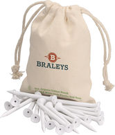 Eco-Friendly Golf Tees in Organic Cotton Pouch