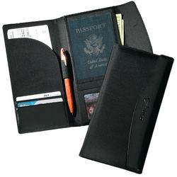 Nylon and Leather Travel Wallet