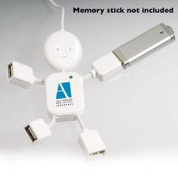 4-Port USB Hub Shaped Like A Little Dude