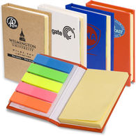Mini Sticky Flag Book with Sticky Note Pad and Page Markers
