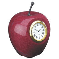 Apple Shaped Desktop Clock Made of Marble