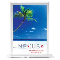 "7""x 8.5"" Stand Up Desktop Full-Color Acrylic Award"