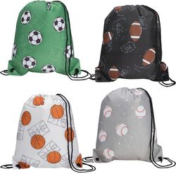 "14"" x 16.5"" Drawstring Cinch Backpack with Sports Patterns"
