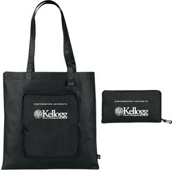 "16"" x 15"" Non-Woven PolyPro Folding Zip-UpTote"