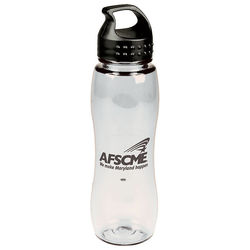 25 oz. Transparent Dishwasher-Safe Slim Grip Bottle (BPA-Free)