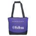 "2-Tone Zippered Budget Conference Tote Bag with 32"" Handles"