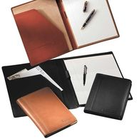 Junior-Size Calfskin Leather Padfolio