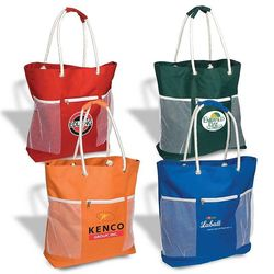 "17.75"" x 21"" Seaside Polyester Tote"