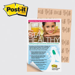 "Post-it&reg Poster Paper - 11"" x 17"" Adhesive"